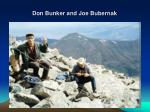 don bunker and joe bubernak