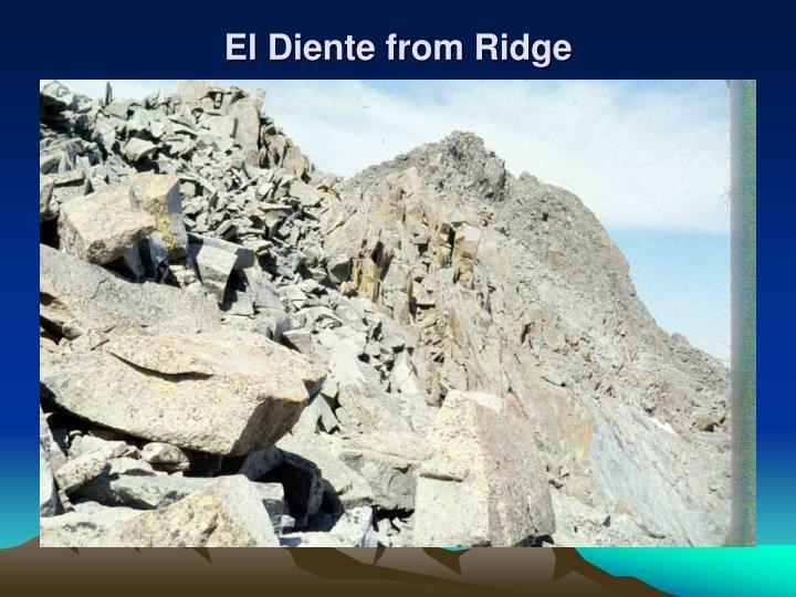 El Diente from Ridge