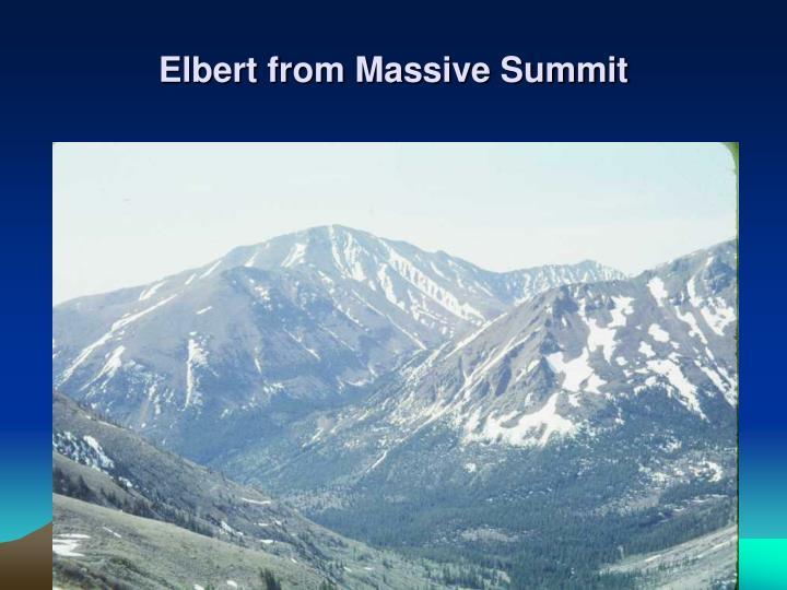 Elbert from Massive Summit
