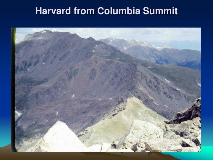 Harvard from Columbia Summit