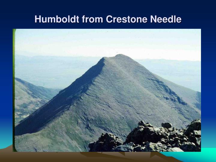 Humboldt from Crestone Needle