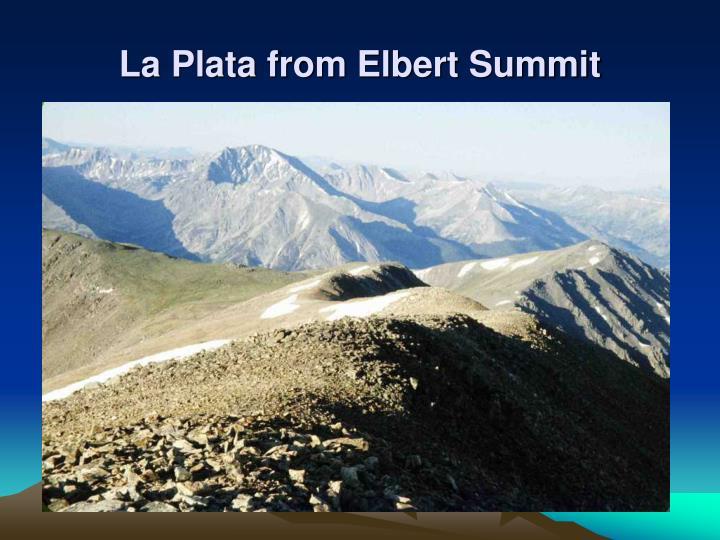 La Plata from Elbert Summit