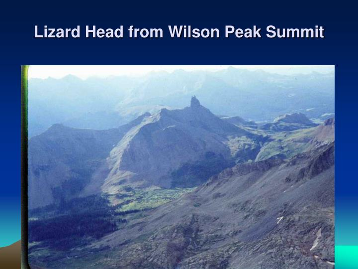 Lizard Head from Wilson Peak Summit
