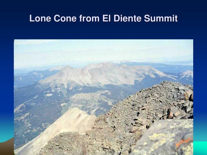 Lone Cone from El Diente Summit
