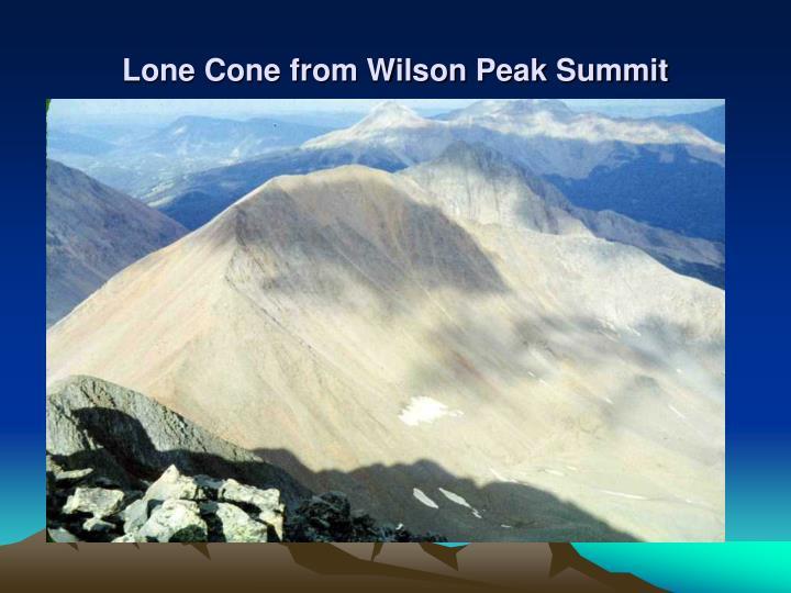 Lone Cone from Wilson Peak Summit