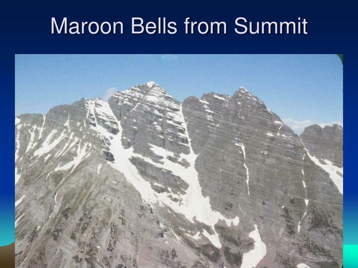 Maroon Bells from Summit