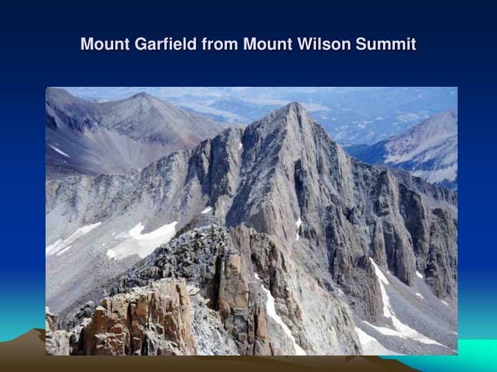 Mount Garfield from Mount Wilson Summit