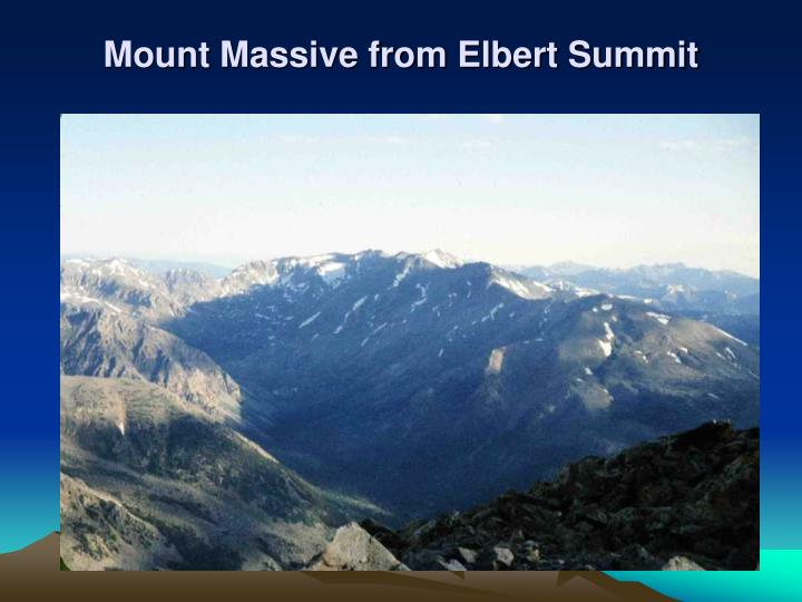 Mount Massive from Elbert Summit