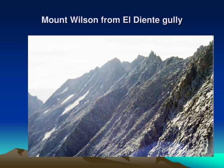 Mount Wilson from El Diente gully