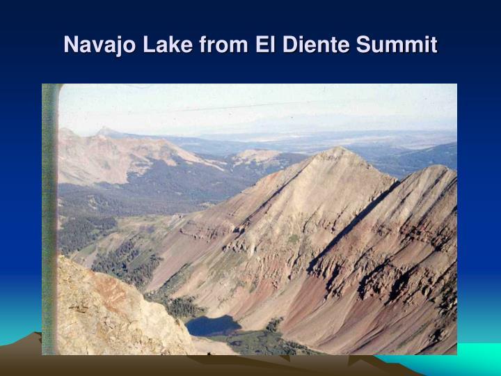 Navajo Lake from El Diente Summit