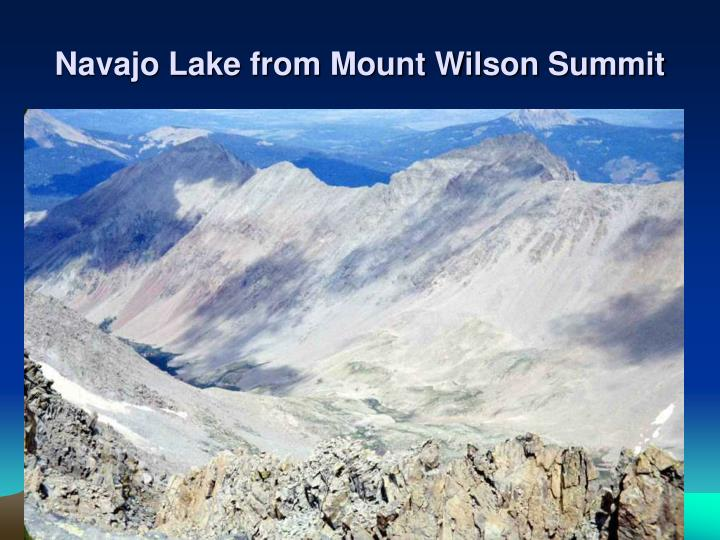 Navajo Lake from Mount Wilson Summit