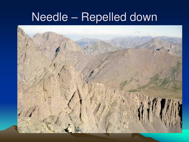 Needle – Repelled down