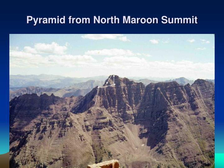 Pyramid from North Maroon Summit