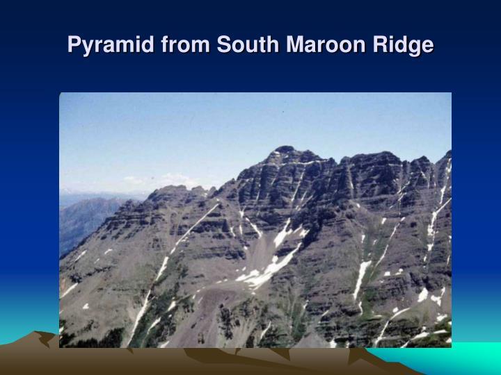 Pyramid from South Maroon Ridge