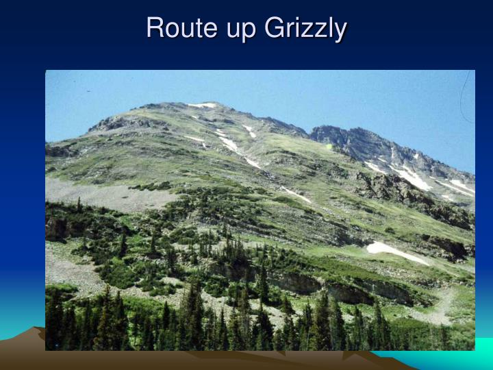 Route up Grizzly