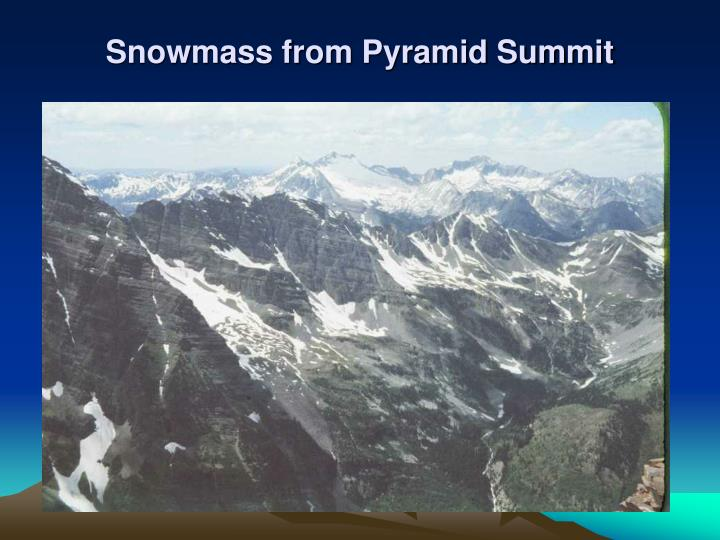 Snowmass from Pyramid Summit