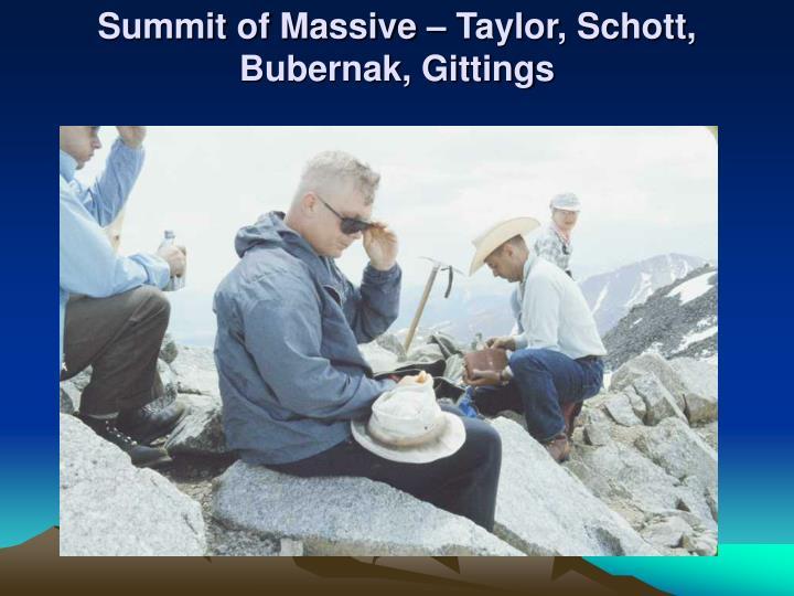 Summit of Massive – Taylor, Schott, Bubernak, Gittings