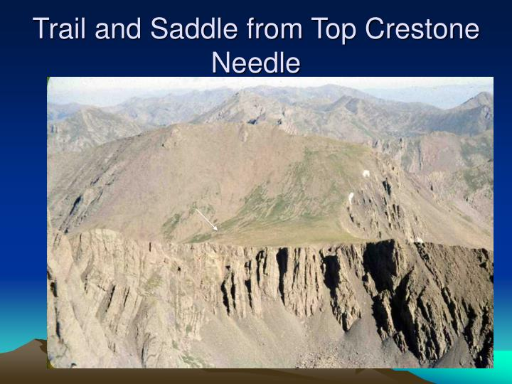 Trail and Saddle from Top Crestone Needle
