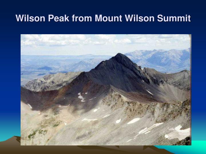 Wilson Peak from Mount Wilson Summit