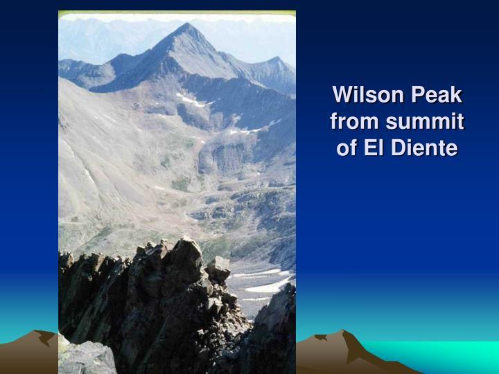 Wilson Peak from summit of El Diente