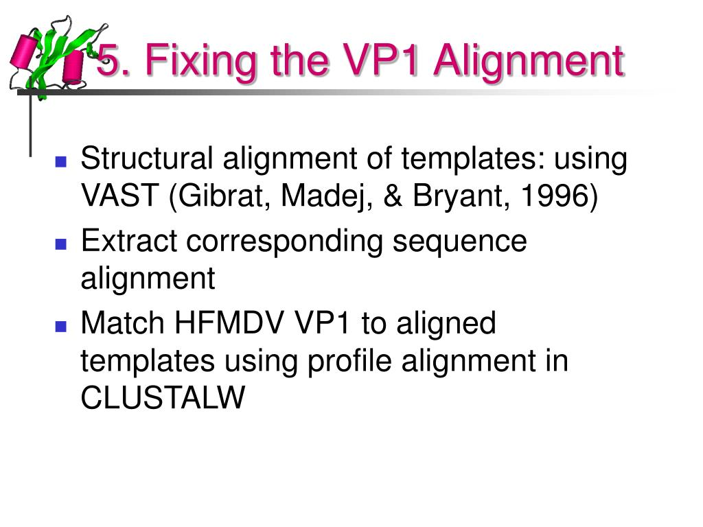 5. Fixing the VP1 Alignment