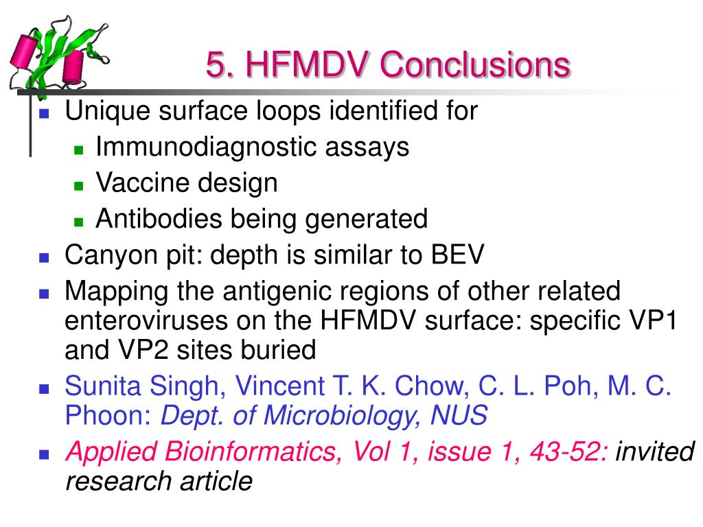 5. HFMDV Conclusions