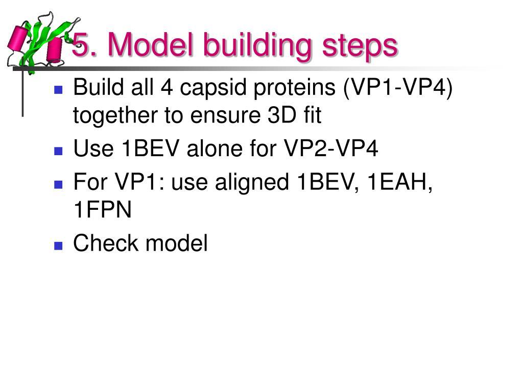 5. Model building steps