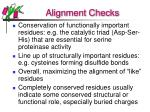 alignment checks