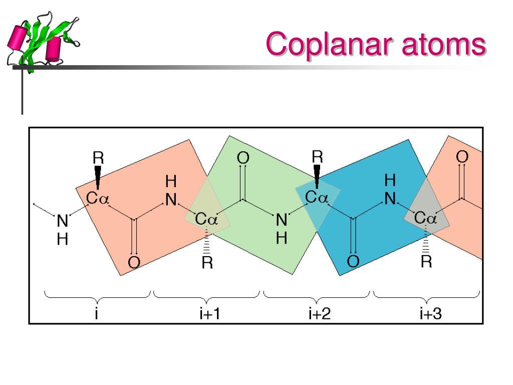 Coplanar atoms