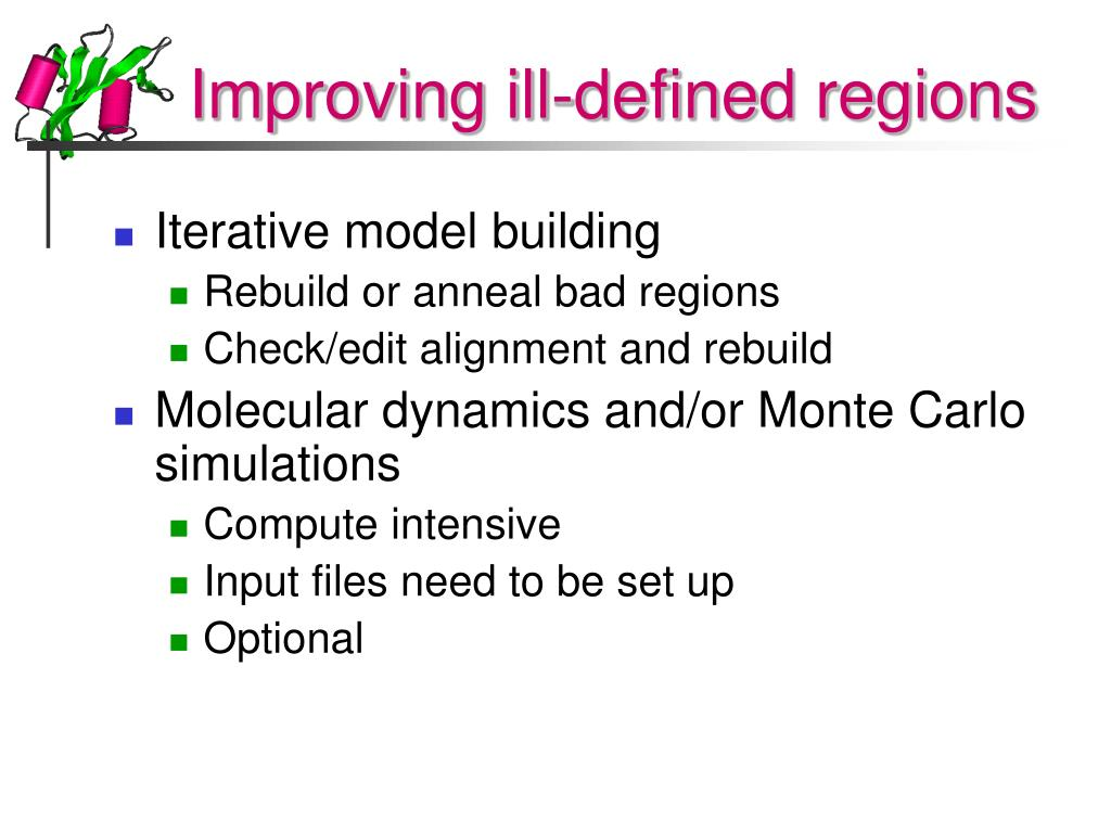 Improving ill-defined regions