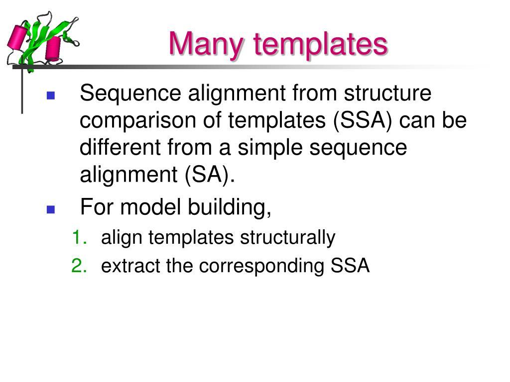 Many templates