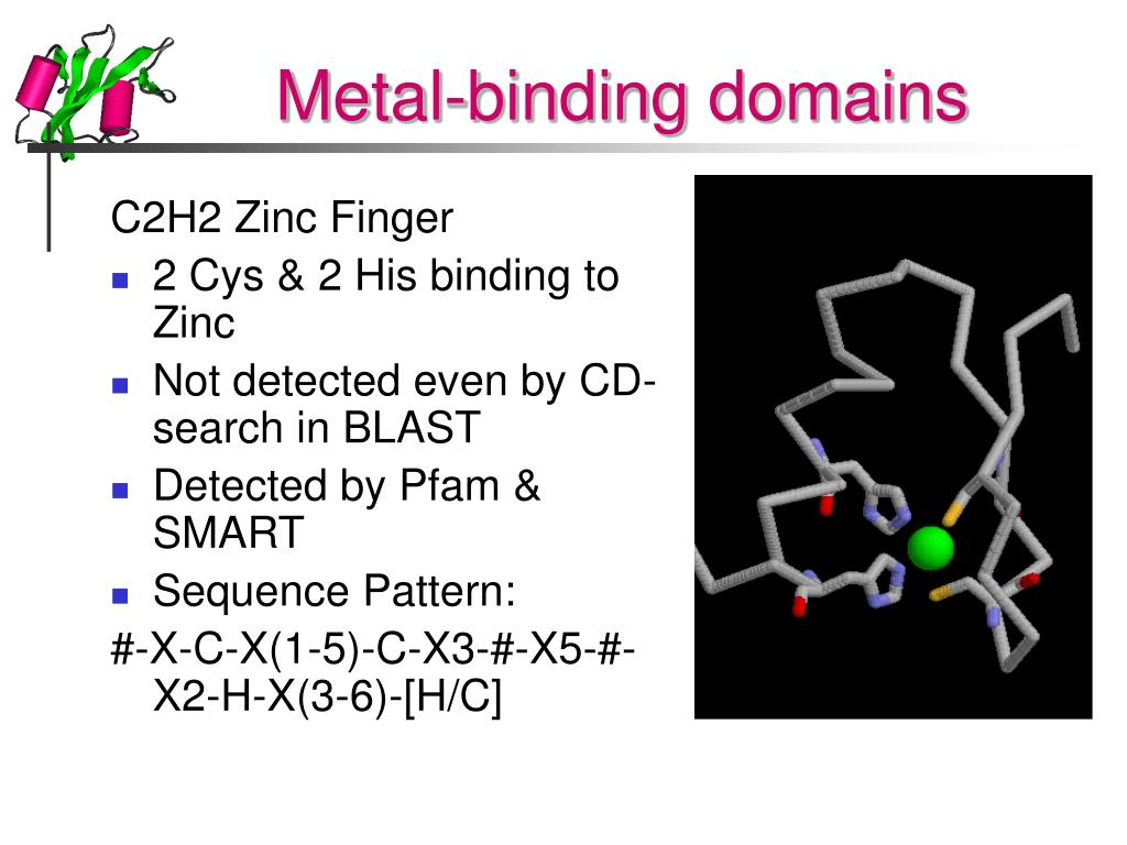 Metal-binding domains