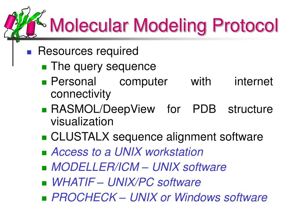 Molecular Modeling Protocol