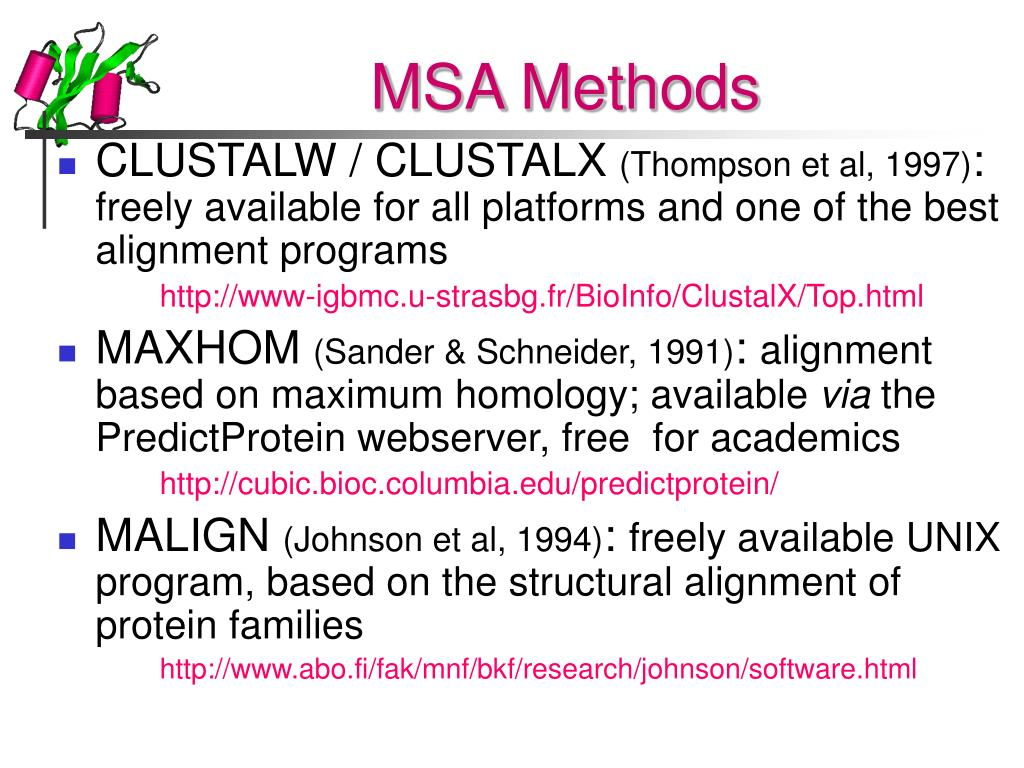 MSA Methods