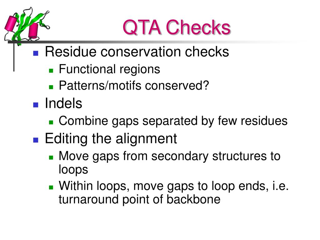 QTA Checks