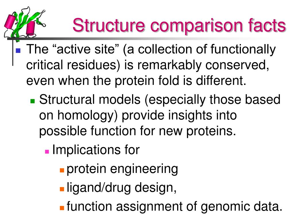 Structure comparison facts
