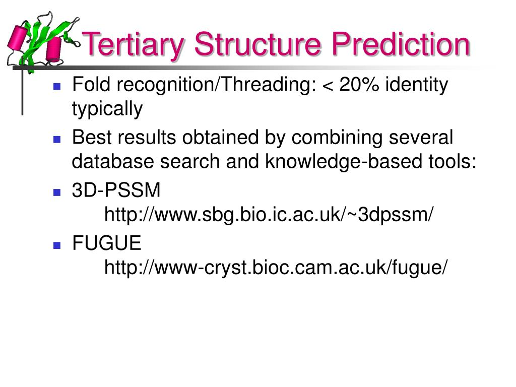 Tertiary Structure Prediction