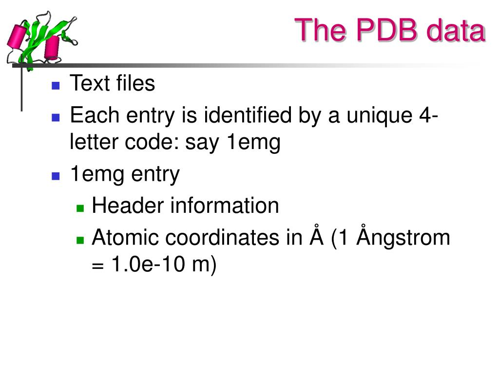 The PDB data