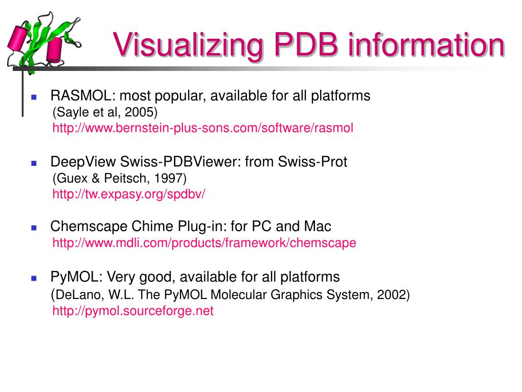 Visualizing PDB information