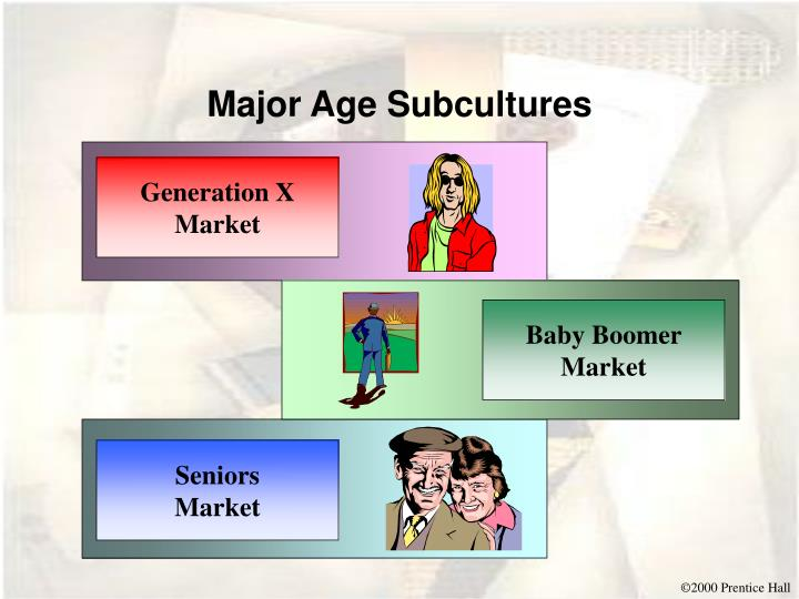 Major Age Subcultures