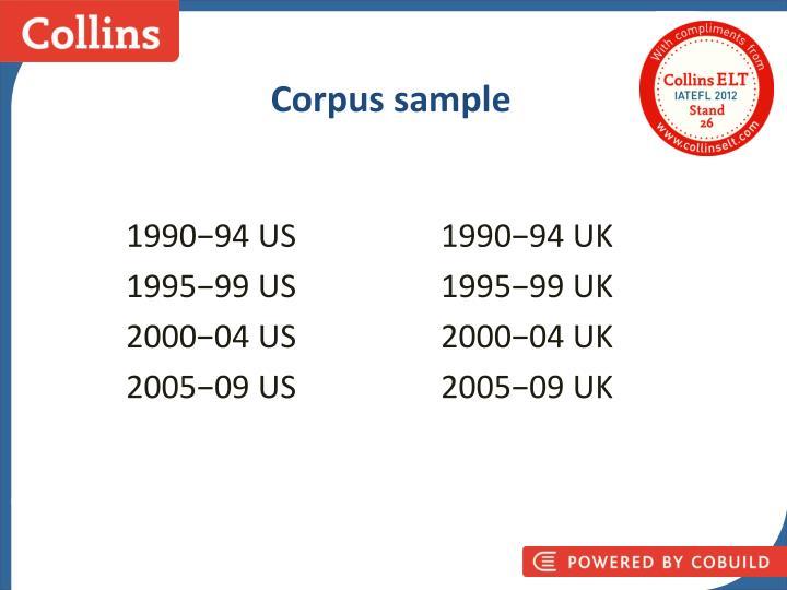 Corpus sample