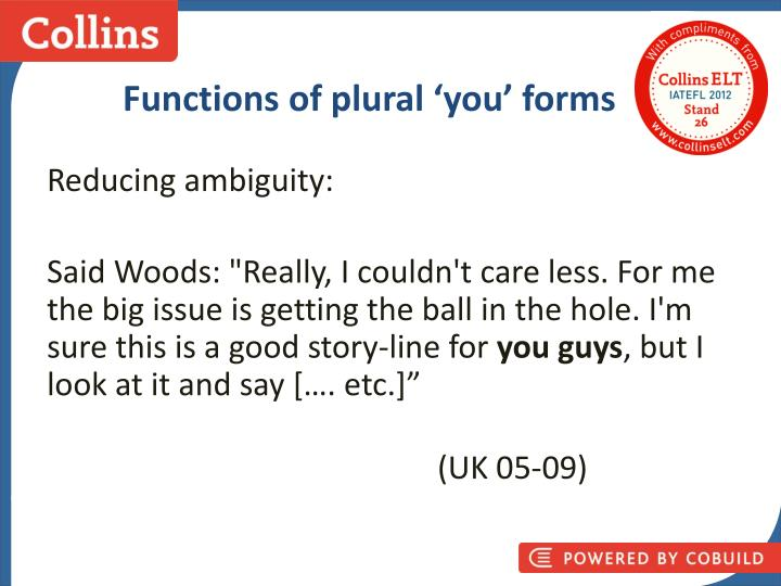 Functions of plural