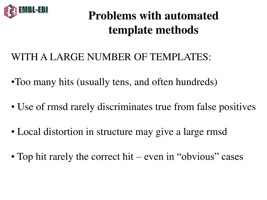 Problems with automated template methods
