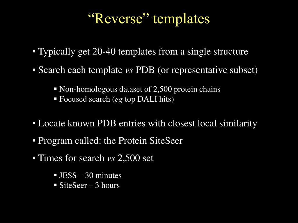 """Reverse"" templates"