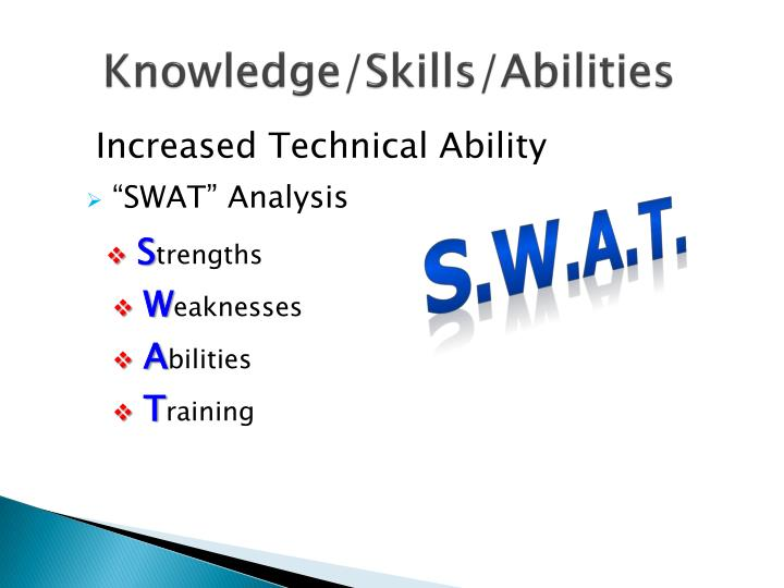 Knowledge/Skills/Abilities
