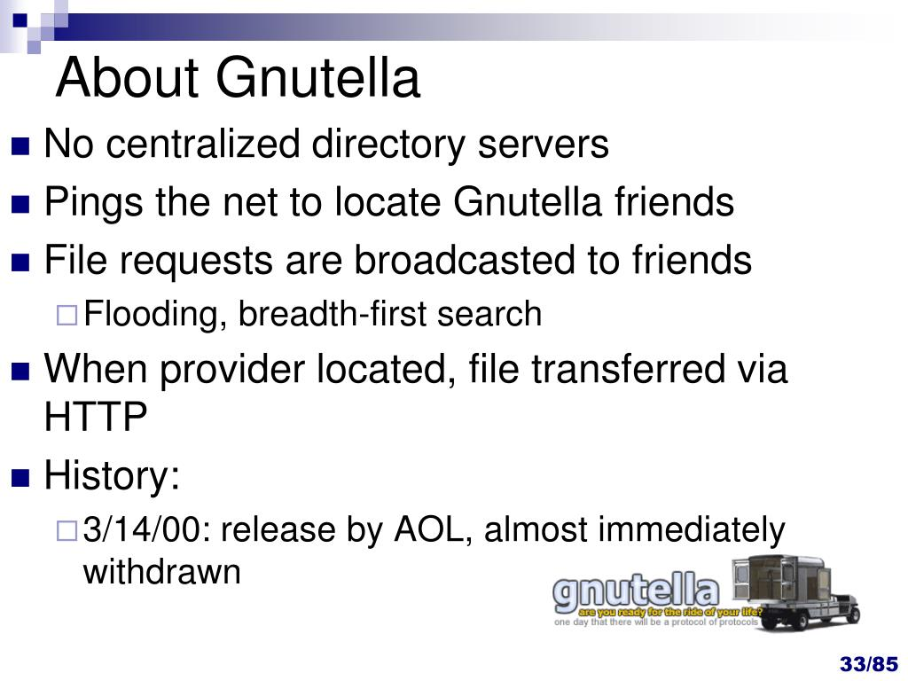 About Gnutella