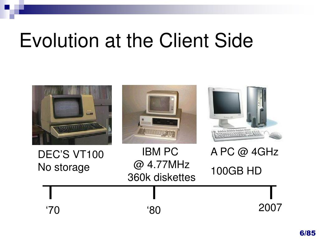 Evolution at the Client Side