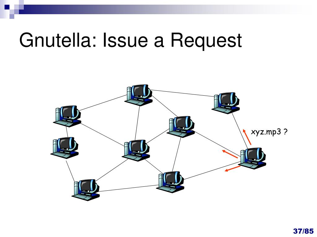 Gnutella: Issue a Request