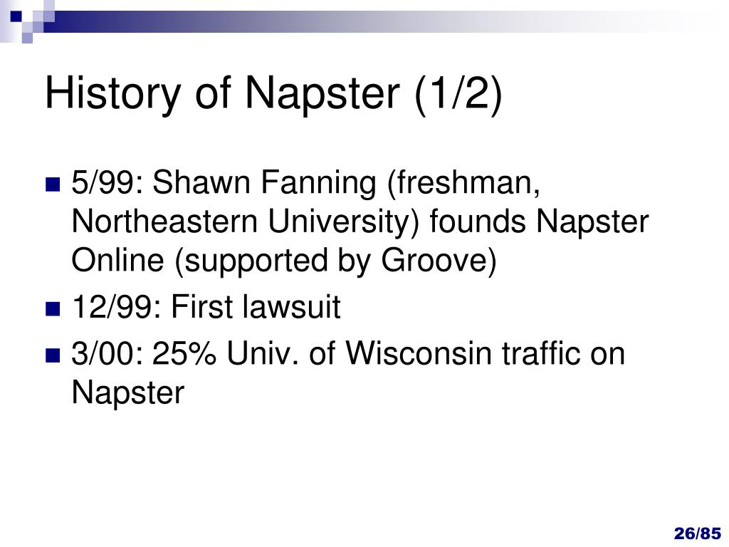 History of Napster (1/2)