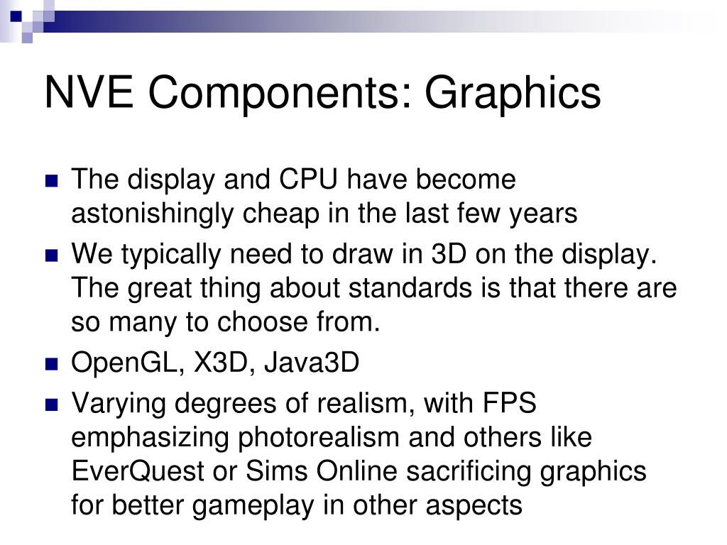 NVE Components: Graphics